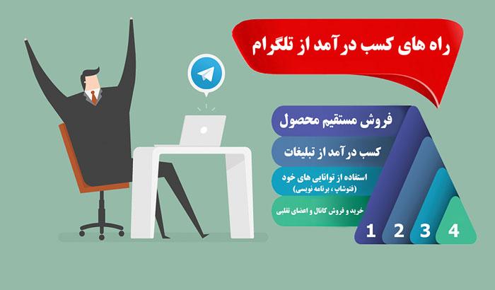 کسب درآمد از اینترنت -کسب درآمد از تلگرام